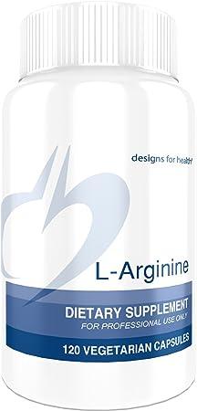 Designs for Health 750mg L-Arginine – Amino Acid Nitric Oxide Booster 120 Capsules