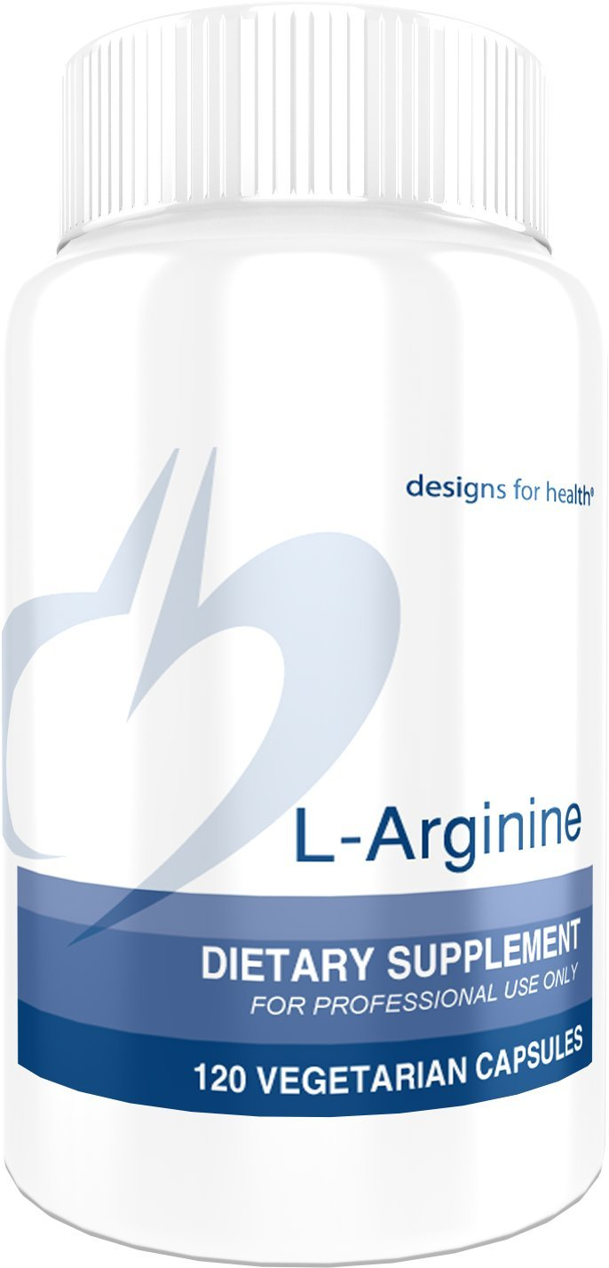 Designs for Health - L-Arginine - 750mg Amino Acid Nitric Oxide Booster, 120 Capsules