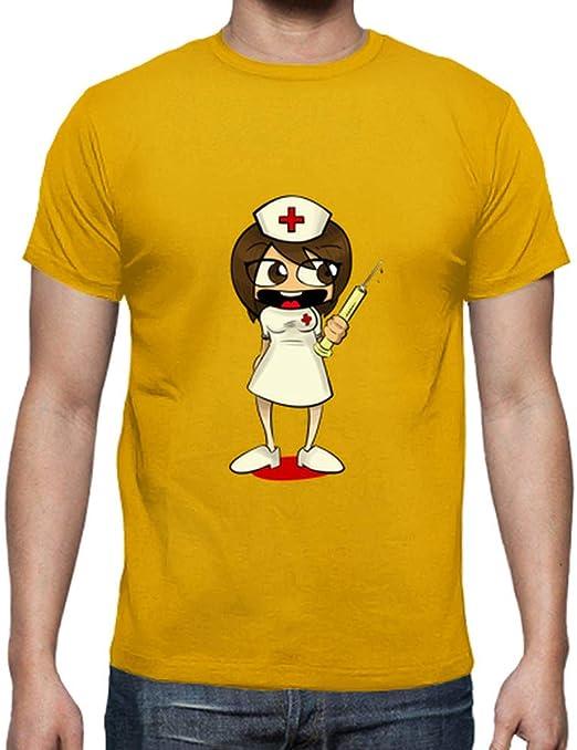 latostadora - Camiseta Enfermera para Hombre: rubber.gummy: Amazon.es: Ropa y accesorios