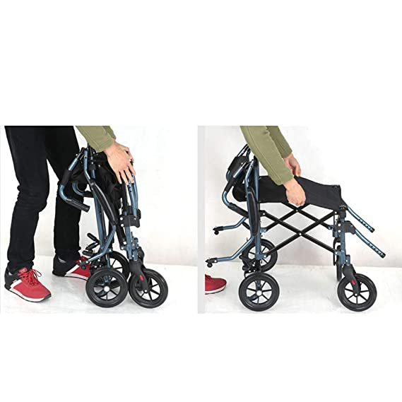 Amazon.com: ZJⓇ Wheelchair Wheelchair, Aluminum Alloy Elderly Disabled Manual Wheelchair Small Light Foldable Portable Travel: Kitchen & Dining