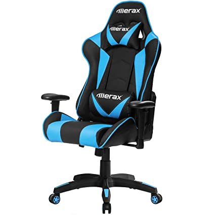 Merax High Back Computer Chair Ergonomic Design Racing Gaming Chair  Reclining Chair Home Office Chair (