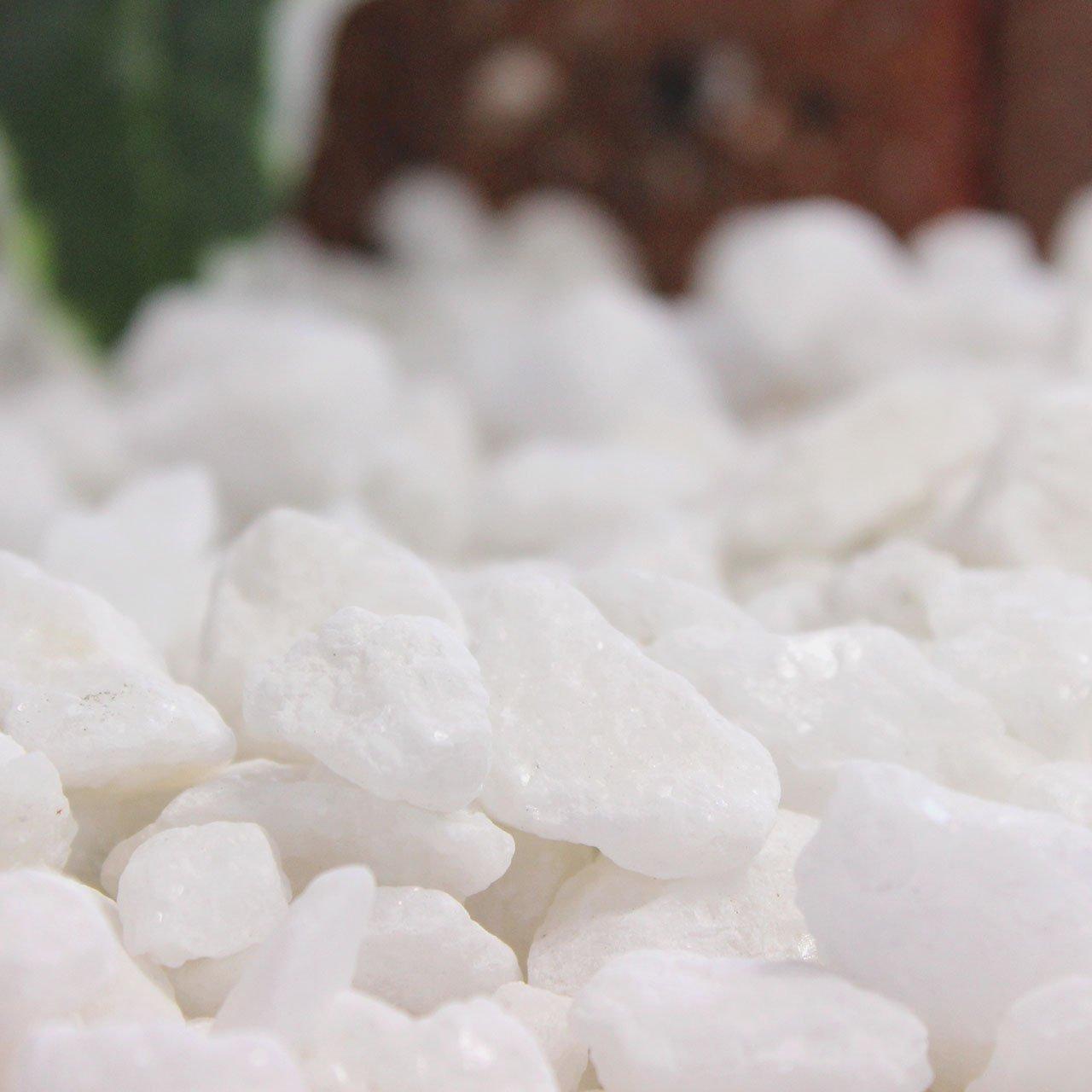 砂利 クラッシュマーブライト ホワイト 5-13mm 20kg(12.5L)×5袋セット 【100kg】 B0157I5XEW  100kg