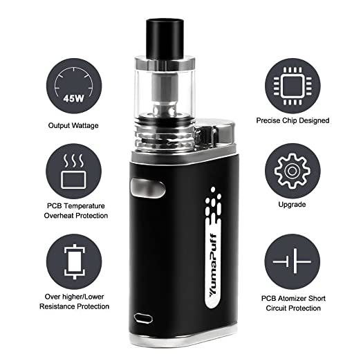 Cigarrillo electrónico Vaping Kit E-Cig Vapor E Cig Mod Kit, Acme Vape Kit, Batería recargable 1800mah, No E Liquid, Nicotine Free: Amazon.es: Salud y ...