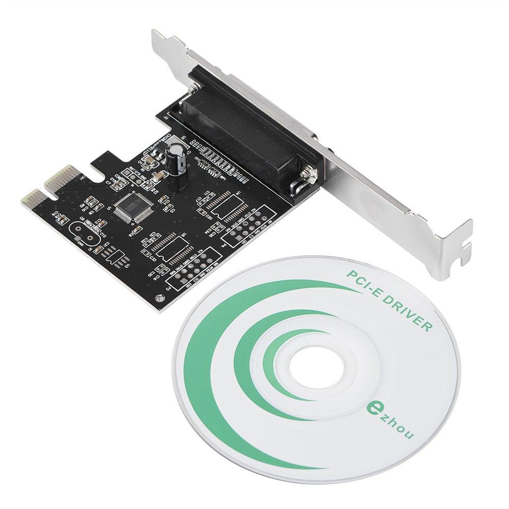 Adaptador paralelo PCI-E Richer-R, PCI-E PCI-Express a 1 puerto DB25 LPT Adaptador convertidor de impresora paralela 12C