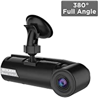 SOLIOM G1 380° Full Angle Car Dash Camera, Dual 190° Ultra Wide Angle Front and Inside Cabin Full HD Dashboard Camera