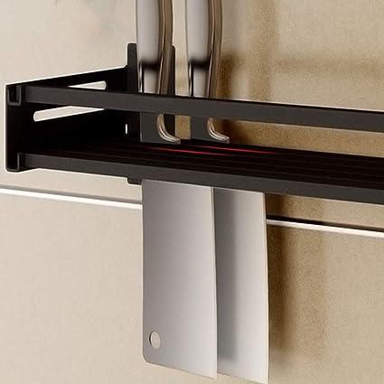 Estante de acero inoxidable para especias, color negro, para colgar en la pared: Amazon.es: Hogar