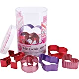 Wilton Valentine 9 Piece Color Anodized Cookie Cutter Set