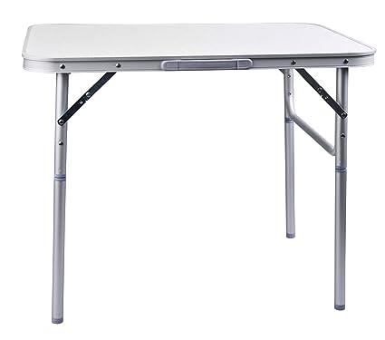 Campingtisch Amazon.Aluminium Klapptisch Campingtisch 75x55cm Gartentisch Beistelltisch Falttisch Picknicktisch Alutisch Faltbar Und Höhenverstellbar