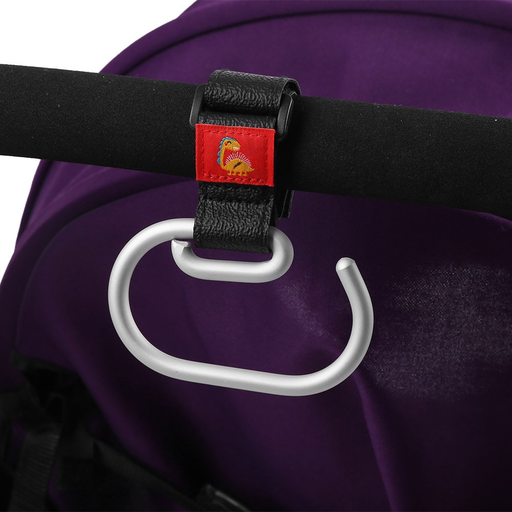 Stroller Hooks 3Pcs Aluminium Swirly Baby Pram Hanger for Infant Pushchair Rollator Walker Wheelchair Accessories to Attach Shopping Bag