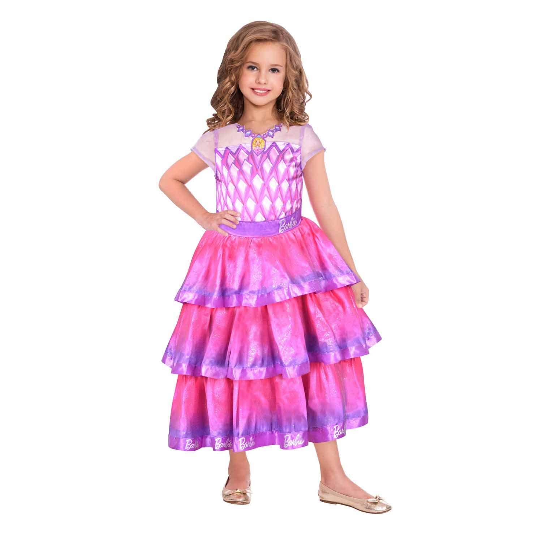 amscan 9904430 - Disfraz infantil de Barbie (104 cm), color rosa ...