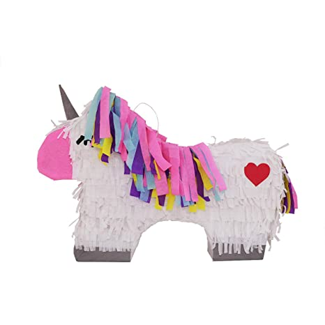 LYTIO Colorful Unicorn Pinata Full Body with Silver Details and  Multicolored Hair (Unicornio Piñata) Ideal for Girl Birthday Parties,  Fairytale and