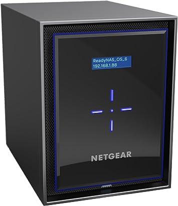 Netgear ReadyNAS RN42600-100NES - Dispositivo de Almacenamiento en Red (RN426 de sobremesa, Quad Core, 6 bahías, sin Herramientas, sin Discos)