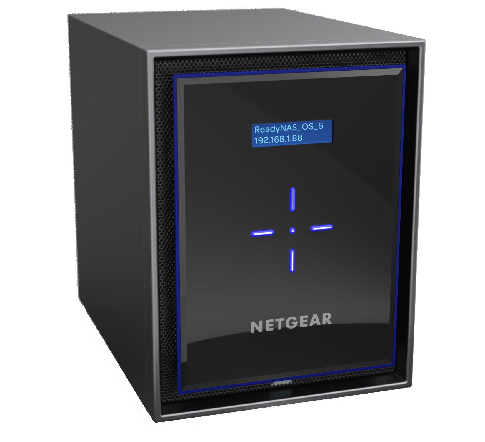 NETGEAR ReadyNAS RN426 6 Bay Diskless High Performance NAS, 60TB Capacity Network Attached Storage, Intel 2.1GHz Quad Core Processor, 4GB RAM, (RN42600) by NETGEAR