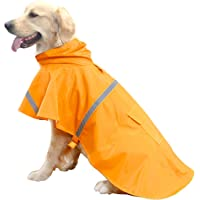 HAPEE Dog Raincoats for Large Dogs with Reflective Strip Hoodie,Rain Poncho Jacket for…