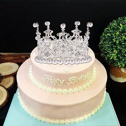Amazon.com: Pueri corona decoración para tarta para ...