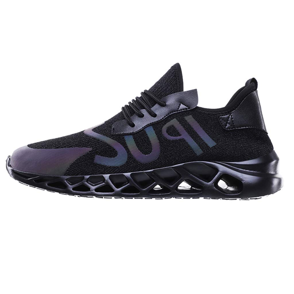 Sneakers for Men 2019, Caopixx Men's Sport Baseball Shoes Outdoor Lightweight Gym Athletic Shoes Black