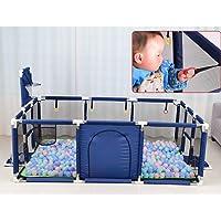 OMzgxGOD - Baby playpens Extra Grande Bebé Parque Infantil Interior Y Exterior Espacio De Juego Seguridad para NiñOs Centro De Juego Patio Casa Cerco Interior Altura 66 Cm