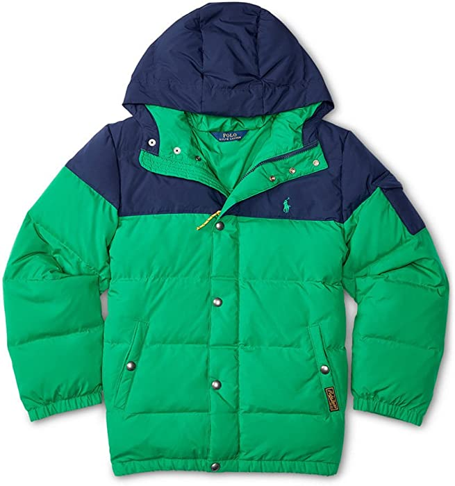 2a39aa246 Polo Ralph Lauren Two Toned Quilted Down Filled Coat Parka Jacket Boys (2 2T )