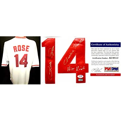 a800ab38a Pete Rose Signed - Autographed Cincinnatti Reds Authentic 1981 Jersey with  with CHARLIE HUSTLE and HIT KING Inscriptions - Mounted Memories  Authenticity ...