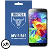Samsung Galaxy S5 Screen Protector Pack, Super Clear by Minotaur (6 Screen Protectors)
