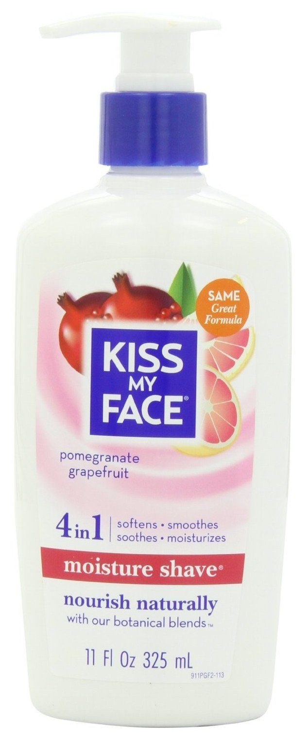 Kiss My Face 4 in 1 Moisture Shave, Pomegranate Grapefruit 11 oz (Pack of 6) by Kiss My Face