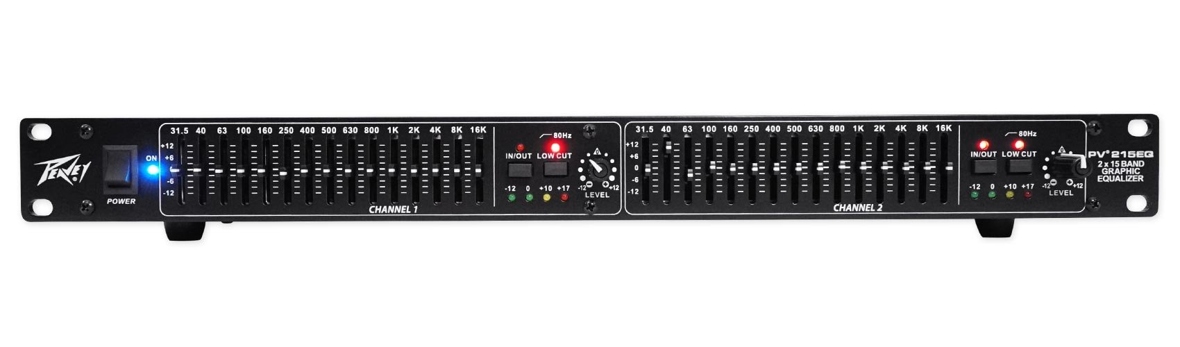 Package: Peavey PV 215 EQ Blk Dual 15-Band Graphic Equalizer With Control Sliders + Peavey PV 20' XLR Female to Male Low Z Mic Cable by Peavey (Image #2)