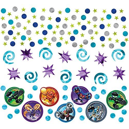 Skylanders Birthday Party Confetti Decoration Value Pack (1 Piece), Blue/Violet, 1.2 oz..