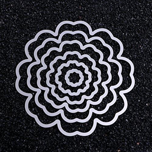 SCASTOE 6pc Petals Metal Cutting Dies Stencil Scrapbooking Album DIY Card Embossing Craft