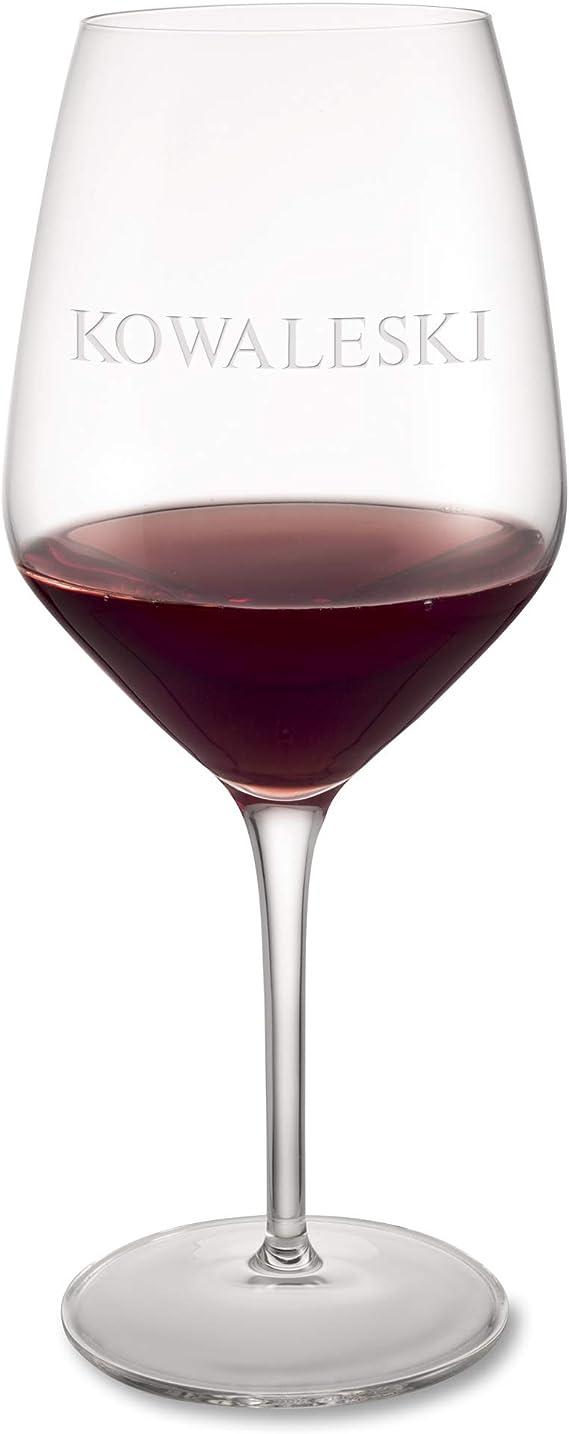 Personalized Luigi Bormioli Atelier Cabernet Wine Glass with Engraving Included