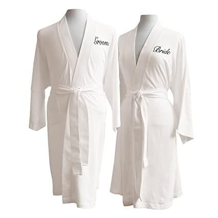 a45516b443 Luxor Linens - Lightweight Bathrobe Set - Delano Collection 100% Organic  Cotton Bathrobes - Luxurious