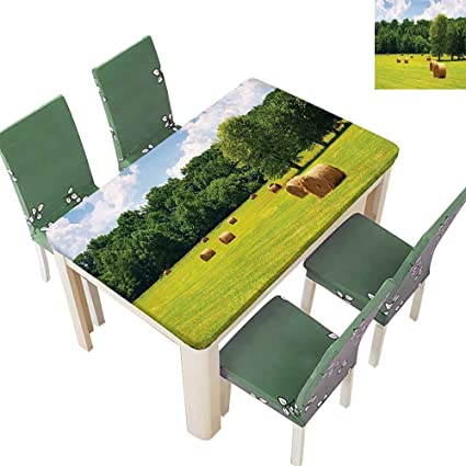 Amazon com: Tablecloth Waterproof Polyester, Farmland After