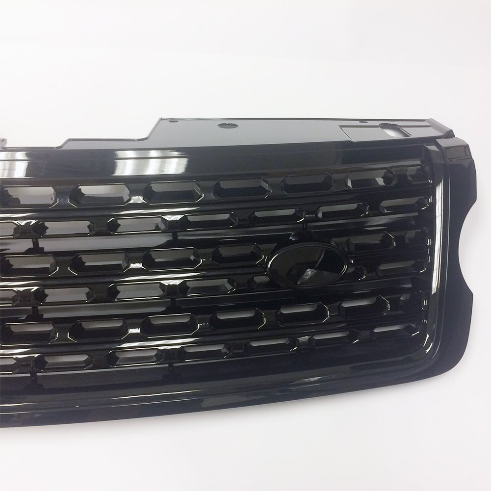 JSD LR052715 Front Bright Black Grille Grill fits 2013 2014 2015 2016 2017 Land Rover Range Rover