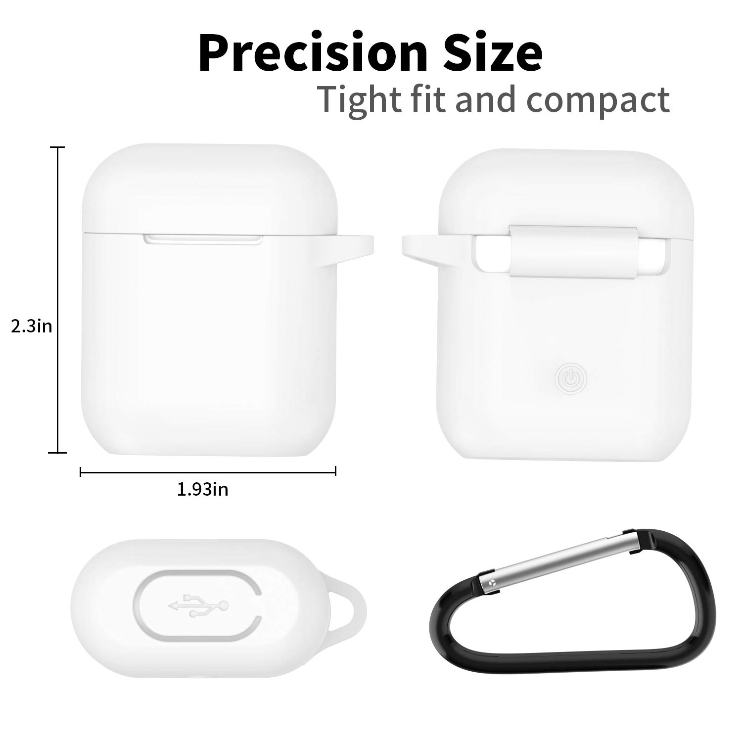 AirPods Case,SATLITOG Protective Silicone Cover Compatiable with Apple AirPods 2 and 2 Denim Blue Not for Wireless Charging Case