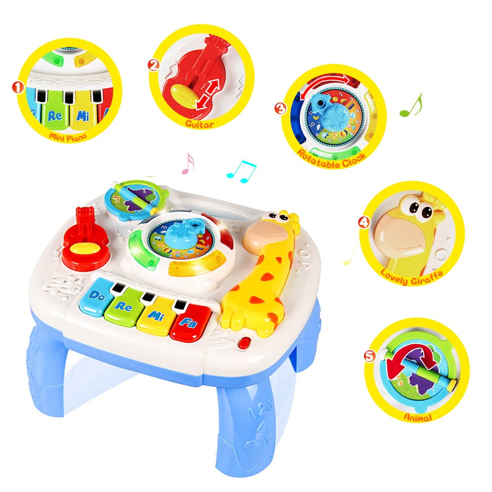 HOMOFY Baby Toys for 6-12 Month Baby Musical Learning Activity Table ,Built-in Animal Sounds, Music & Light Function,Early Development Baby Pull Toy for 1 2 3 Year Old Best Gift for Boys and Girls by HOMOFY (Image #4)