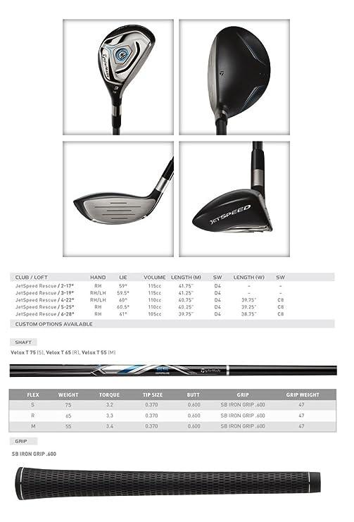 Amazon.com: Palo de golf TaylorMade N1122407 Jetspeed Golf ...