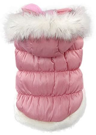 La vogue Chaqueta Acolchada Abrigo Para Perro Con Capucha Piel (Rosa, L): Amazon.es: Deportes y aire libre