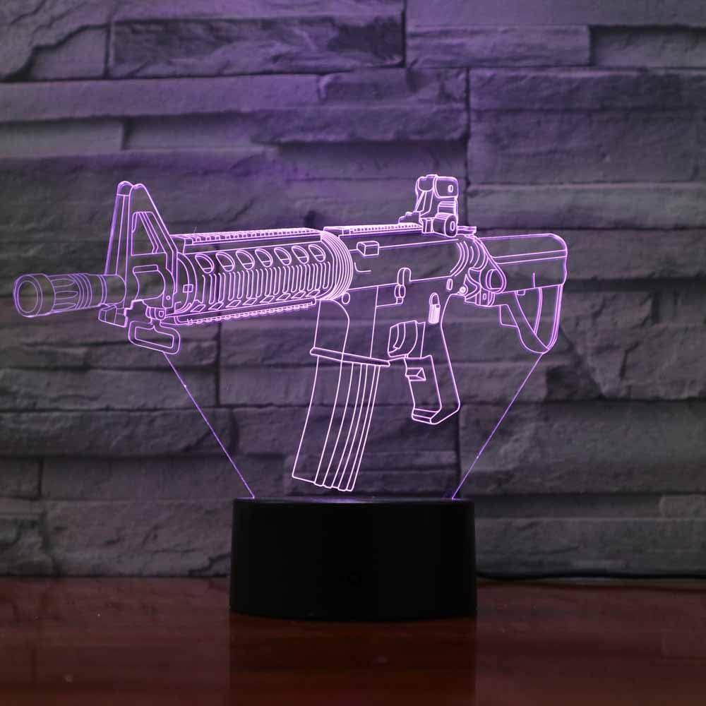 3d arme Illusion lampe de lumi/ère de nuit 7 couleurs changeantes Touch USB Table Nice Cadeau jouet D/écoration