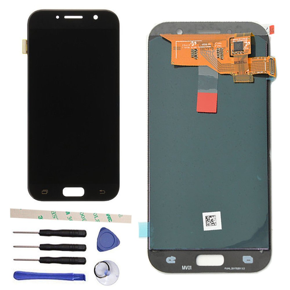 Draxlgon LCD Display Touch Screen Digitizer Assembly For Galaxy A5 Duos 2017 / A5 SM-A520 2017 SM-A520F A520F A520FD A520K A520S 5.2'' (black)
