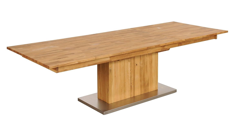 Ausziehtisch Tisch Esstisch 'München' 180(270)x100cm Wildeiche massiv Holz geölt
