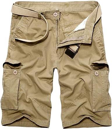 Pantalón Corto Hombre Verano Casuales Trabajo Cargo Shorts ...