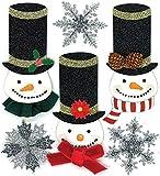 Jolees Christmas Stickers, Glittered Snowmen