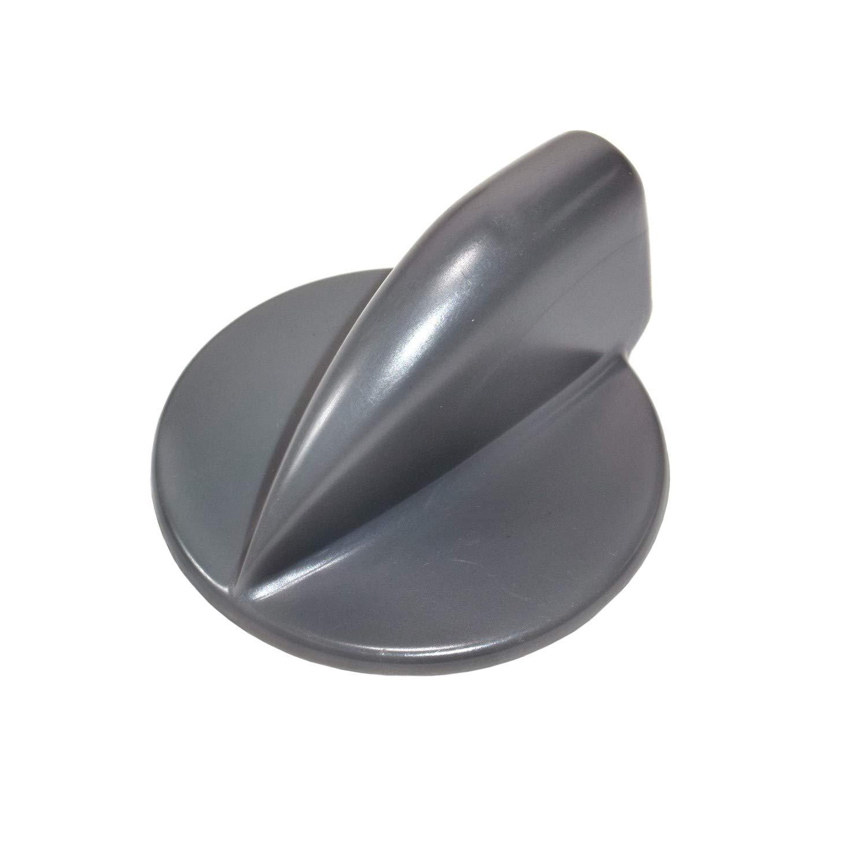 HQRP Gray Duet Washer Dryer Control Knob Replacement for Whirlpool GEW9200LL1 GEW9260PW1 GGW9200LW1 GGW9260PW1 GHW9250MW0 GHW9400PL2 GHW9460PW4 YGEW9200LL1 YGEW9250PW1 plus HQRP Coaster