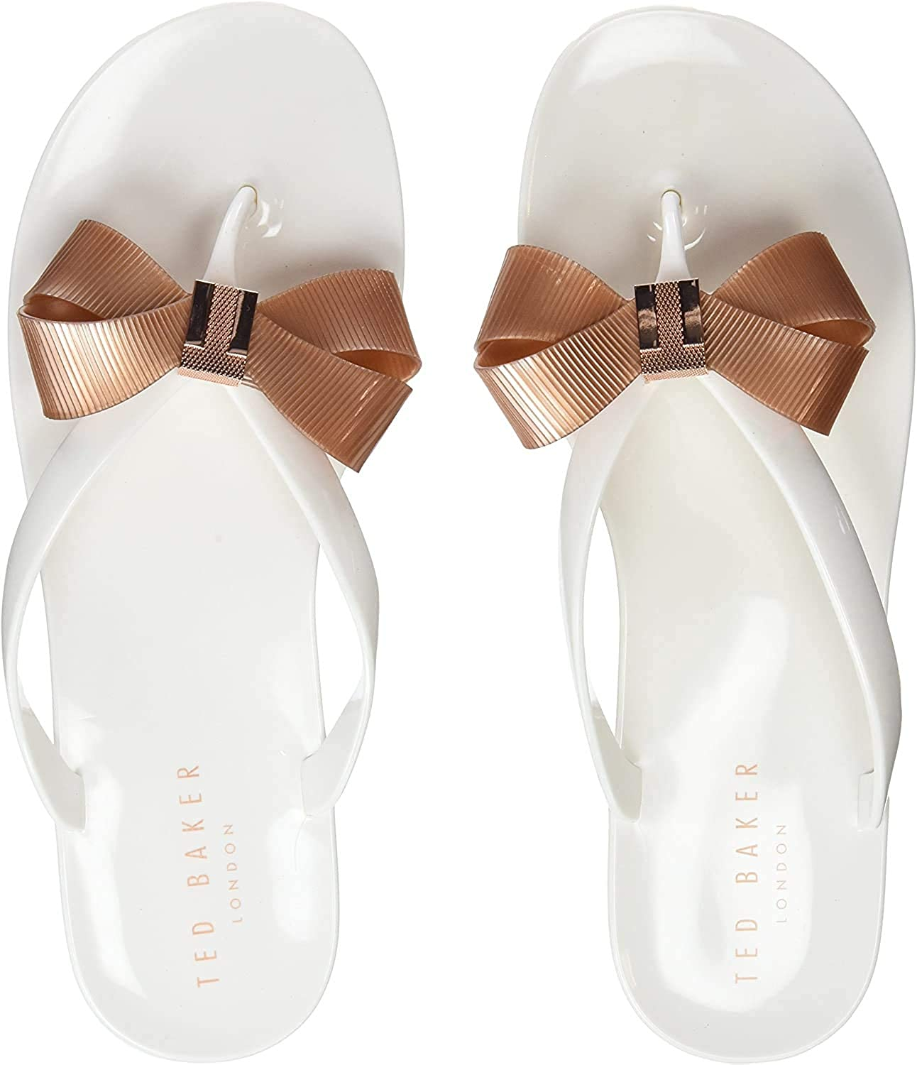 Ted Baker London Womens Oxford Lace-Up Flip Flops