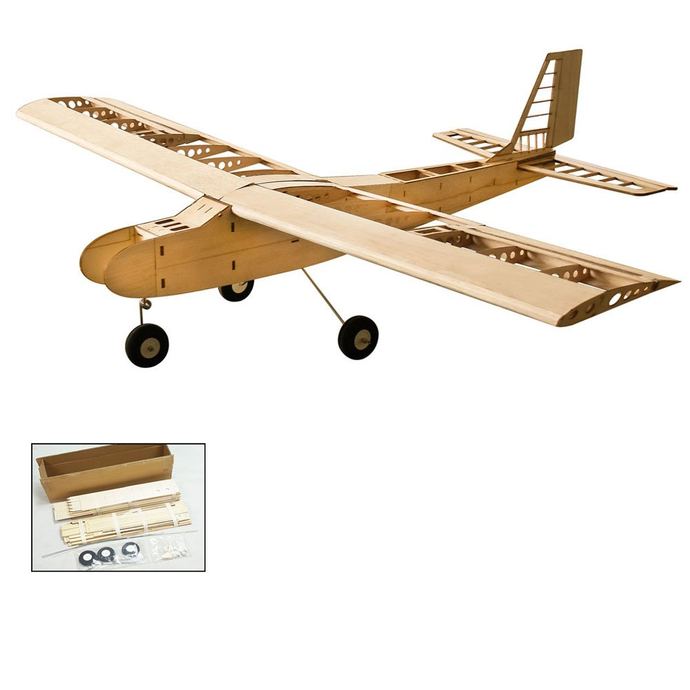 Goolsky 飛行機 DW Hobby T4001 バルサウッド 1550mm 翼幅 複葉機 RC航空機 玩具 DIY用 飛行機 キット おもちゃ B07GWX1F3Z
