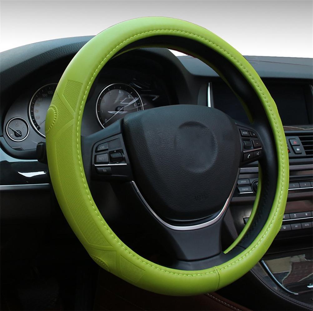 L&L dirección de cuero de piel de cordero cubierta del volante cubierta de la rueda se siente súper bien