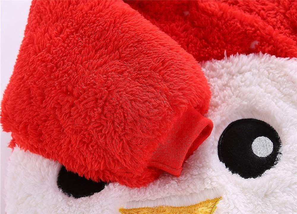 SUCES Neugeborenen Overall M/ädchen Jungen Einfarbig Cartoon Samt Kapuze Strampler Warmer Outdoor Kinder Outfits Niedlich Weich Winter Mantel