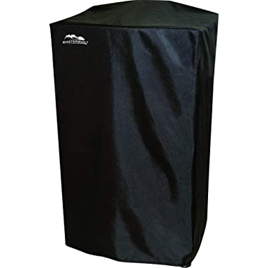 40  Heavy-Duty, Masterbuilt and Reinforced Polyester Smoker Cover, Black