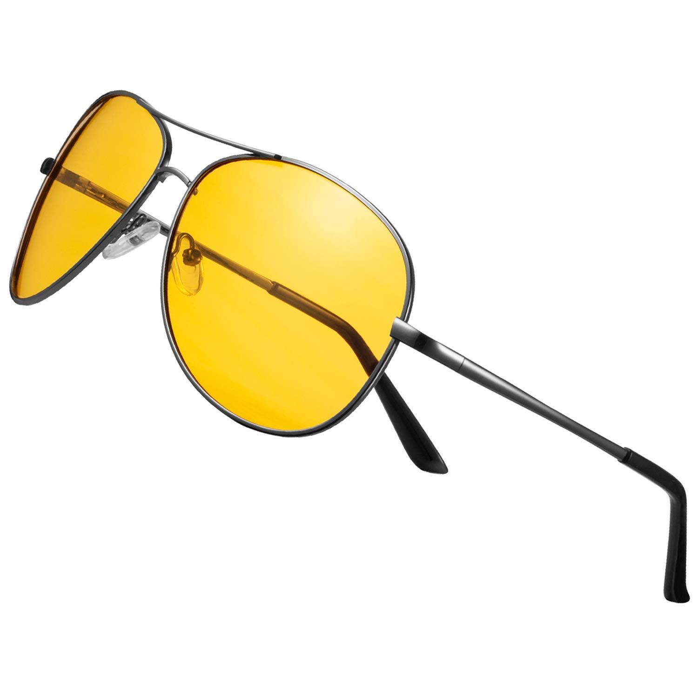 Night Vision Glasses for Driving - FEIDU HD night driving glasses anti glare polarized mens women glasses (black2, 2.04) by FEIDU