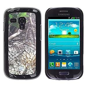 TopCaseStore / la caja del caucho duro de la cubierta de protección de la piel - Plant Nature Forrest Flower 88 - Samsung Galaxy S3 MINI NOT REGULAR! I8190 I8190N