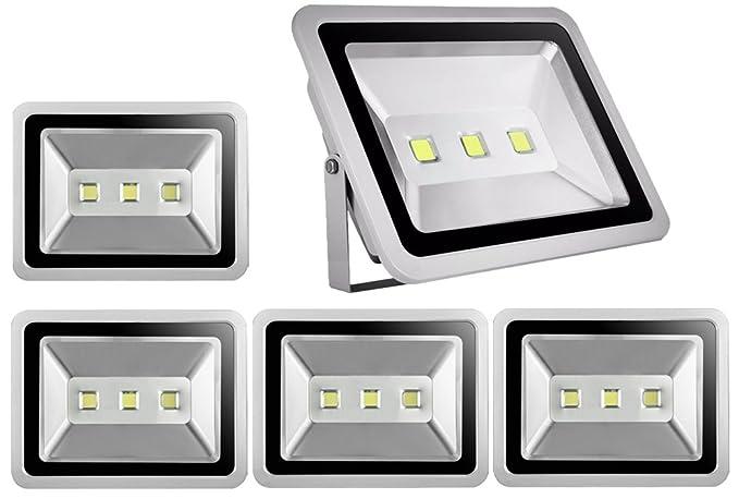 5pcs 150W LED Foco Proyector para Exteriores,ALPHA DIMA Blanco ...